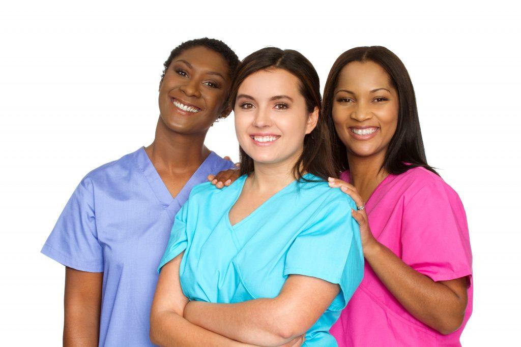 Nurses Standing & Smiling